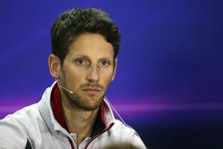 Romain Grosjean, Haas F1 Team in de persconferentie