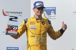 Podium: second place Louis Deletraz, Fortec Motorsports