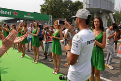 Lewis Hamilton, Mercedes AMG F1 on the drivers parade