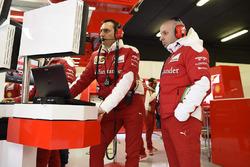 Ferrari ingenieurs aan het werk