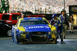 Auto chocado de Jimmie Johnson, Hendrick Motorsports Chevrolet