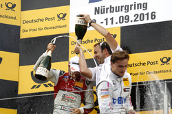 Podium: Edoardo Mortara, Audi Sport Team Abt Sportsline, Audi RS 5 DTM; Lucas Auer, Mercedes-AMG Tea
