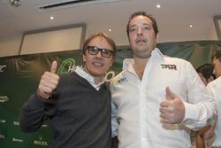 Former driver Adrian Fernández and Ricardo González, RGR Sport