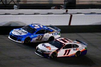 Denny Hamlin, Joe Gibbs Racing, Toyota Camry FedEx Express and Ryan Preece, JTG Daugherty Racing, Chevrolet Camaro Cottonelle