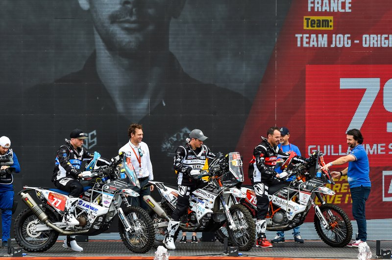 #77 Husqvarna: Jerome Denibaud, #78 KTM: Olivier Pain, #79 KTM: Guillaume Simonnet