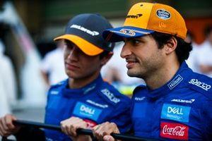 Carlos Sainz Jr., McLaren, and Lando Norris, McLaren