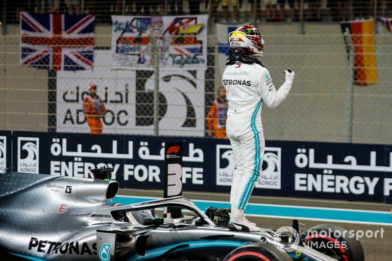 Le poleman Lewis Hamilton, Mercedes AMG F1 W10