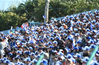 Fans fill out grandstand