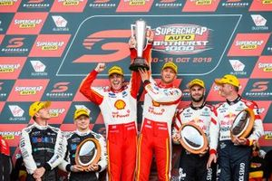 Podium: winners Scott McLaughlin, Alexandre Prémat, DJR Team Penske, second place Shane Van Gisbergen, Garth Tander, Triple Eight Race Engineering, third place James Courtney, Jack Perkins, Walkinshaw Andretti United