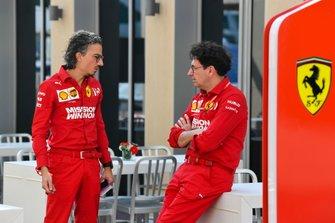 Laurent Mekies, Sporting Director, Ferrari, and Mattia Binotto, Team Principal Ferrari