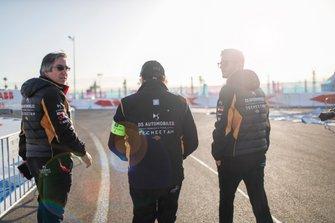 Mark Preston, teambaas DS Techeetah, Pascal Tortosa, DS Techeetah Race Engineer, James Rossiter, DS Techeetah ontwikkelingsrijder