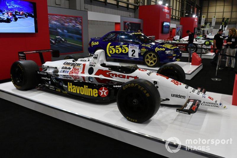 La Lola Indycar di Nigel Mansell del 1994 sullo stand di Autosport