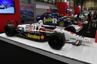 Nigel Mansell's 1994 Lola Indycar on the Autosport stand