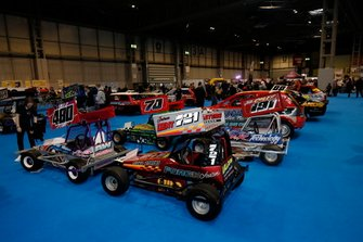 Cars on display at the Autosport show