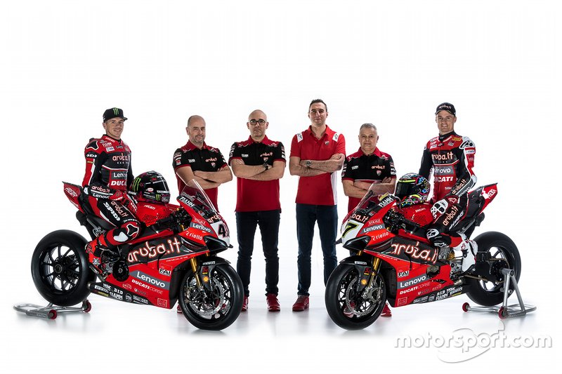 Scott Redding, Aruba.it Racing Ducati, Chaz Davies, Aruba.it Racing Ducati and Aruba.it Racing Ducati team management