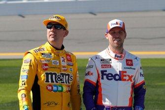 Kyle Busch, Joe Gibbs Racing, Toyota Camry M&M's and Denny Hamlin, Joe Gibbs Racing, Toyota Camry FedEx Express