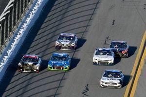 Ryan Newman, Roush Fenway Racing, Ford Mustang Koch Industries and Erik Jones, Joe Gibbs Racing, Toyota Camry Sports Clips