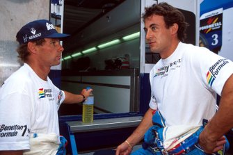 Gerhard Berger, Benetton and team mate Jean Alesi