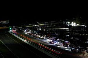 Night, pit lane