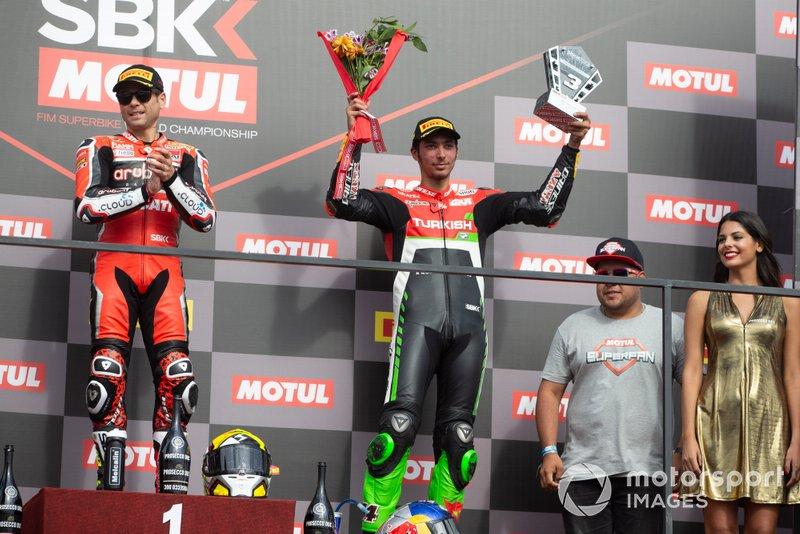 1. Alvaro Bautista, Aruba.it Racing-Ducati Team, 3. Toprak Razgatlioglu, Turkish Puccetti Racing