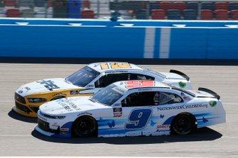 Noah Gragson, JR Motorsports, Chevrolet Camaro Nationwide Children's and Brad Keselowski, Team Penske, Ford Mustang XPEL
