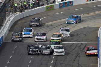 Tanner Gray, DGR-Crosley, Toyota Tundra Valvoline / Durst, spins