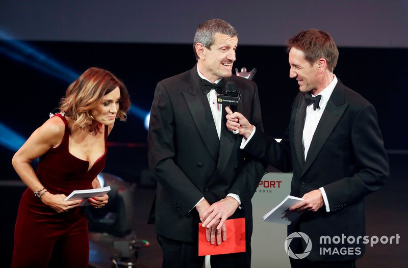 Guenther Steiner, Team Principal, Haas F1, sul palco