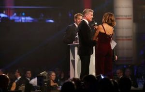 Presenter David Coulthard on stage