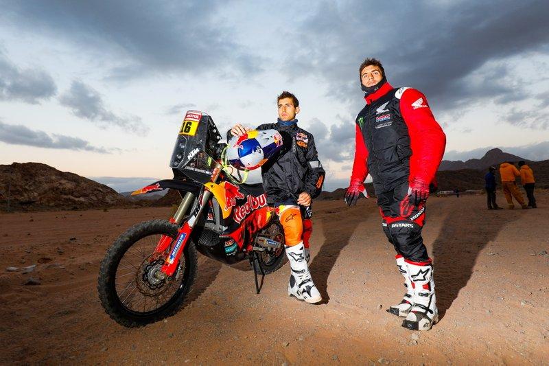 #16 Red Bull KTM Factory Racing: Luciano Benavides, #7 Monster Energy Honda Team: Kevin Benavides