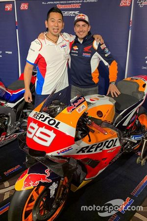 Takeo Yokoyama con Jorge Lorenzo, Repsol Honda Team