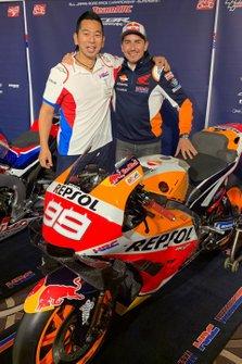 Takeo Yokoyama with Jorge Lorenzo, Repsol Honda Team