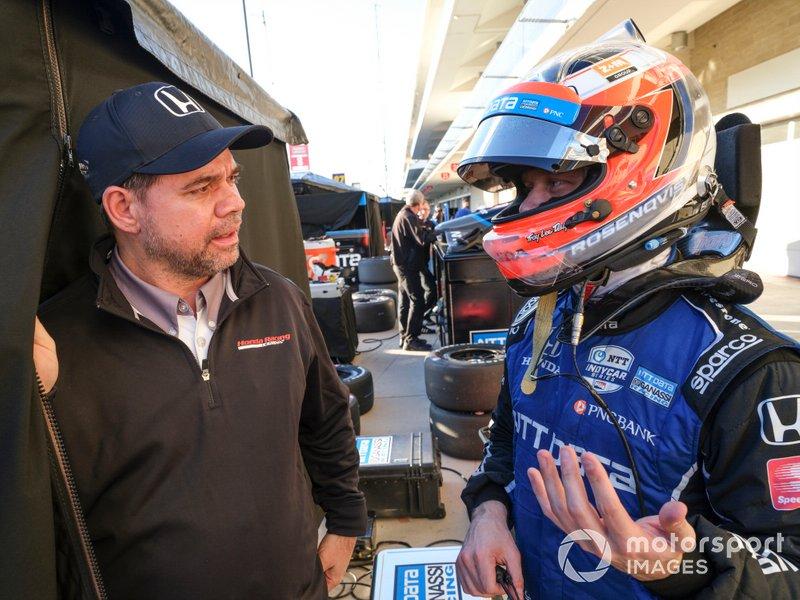 Felix Rosenqvist, Chip Ganassi Racing Honda, Honda HPD engineer
