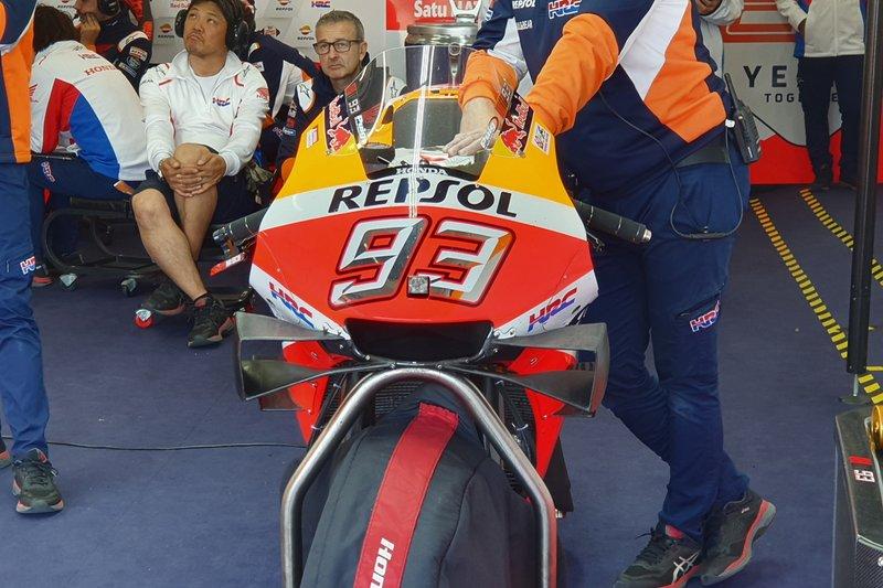 La moto de Marc Márquez