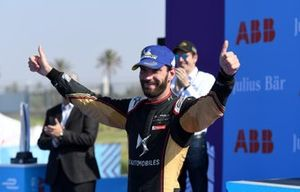 Jean-Eric Vergne, DS Techeetah, 3rd position, on the podium