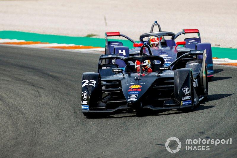 Sébastien Buemi, Nissan e.Dams, Nissan IMO2 Robin Frijns, Envision Virgin Racing, Audi e-tron FE06