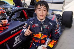 Race winner Yuki Tsunoda