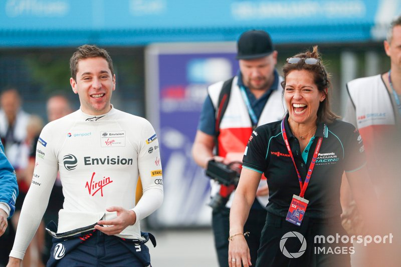 Robin Frijns, Virgin Racing, Presenter Amanda Stretton