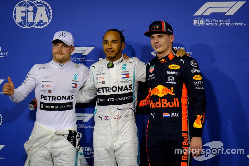 Valtteri Bottas, Mercedes AMG F1 ,Lewis Hamilton, Mercedes AMG F1 ,Max Verstappen, Red Bull Racing
