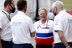 Gene Haas, Owner and Founder, Haas F1, with Williams Racing executives
