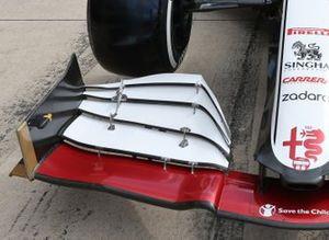 Alfa Romeo Racing C41, dettaglio dell'ala frontale