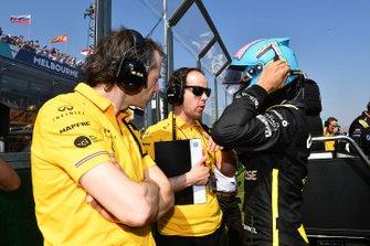 Daniel Ricciardo, Renault, sur la grille
