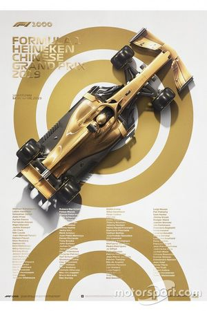 Poster commémoratif du 1000e GP de F1