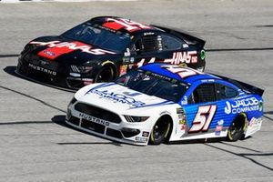 Cody Ware, Petty Ware Racing, Chevrolet Camaro and Clint Bowyer, Stewart-Haas Racing, Ford Mustang Haas Automation