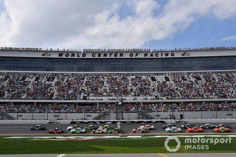 Jeffrey Earnhardt, Joe Gibbs Racing, Toyota Supra iK9 leads