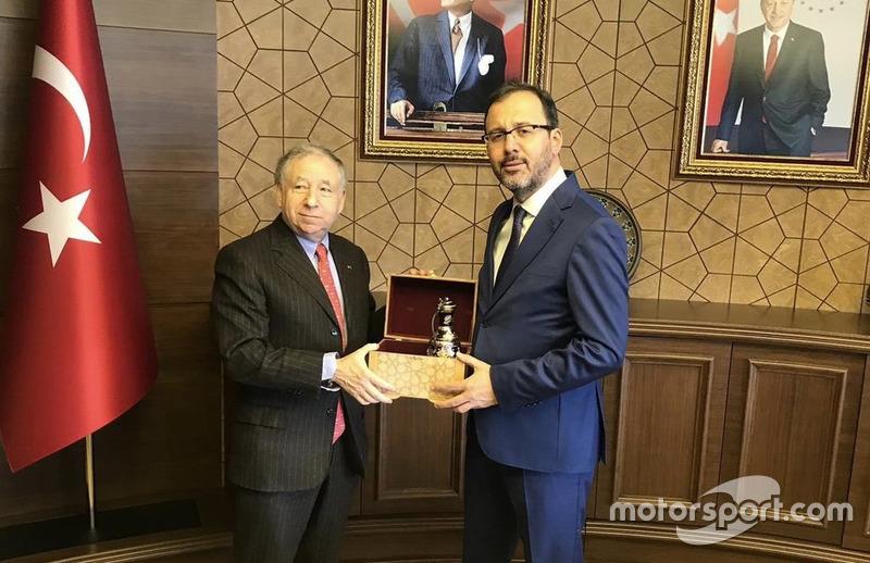 Jean Todt, FIA Başkanı, Mehmet Kasapoğlu, Gençlik ve Spor Bakanı