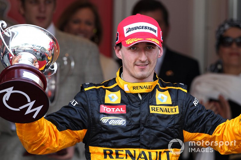 Podium: third place Robert Kubica, Renault