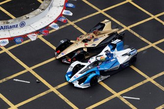 Jean-Eric Vergne, DS TECHEETAH, DS E-Tense FE19, battles with Alexander Sims, BMW I Andretti Motorsports, BMW iFE.18