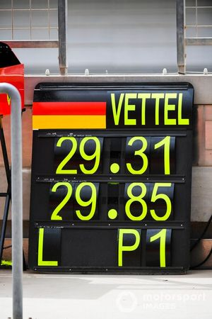 Panneau pour Sebastian Vettel, Ferrari