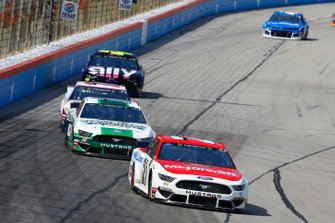 Paul Menard, Wood Brothers Racing, Ford Mustang Motorcraft / Quick Lane Tire & Auto Center, Aric Almirola, Stewart-Haas Racing, Ford Mustang Smithfield Prime Fresh