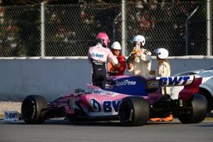 Lance Stroll, SportPesa Racing Point F1 Team RP19 stops on track